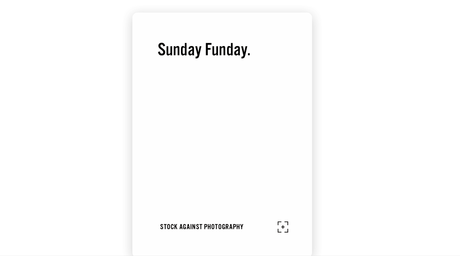 "Playing card that reads ""Sunday Funday."""